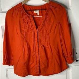 Anthro Meadow Rue Peasant Top